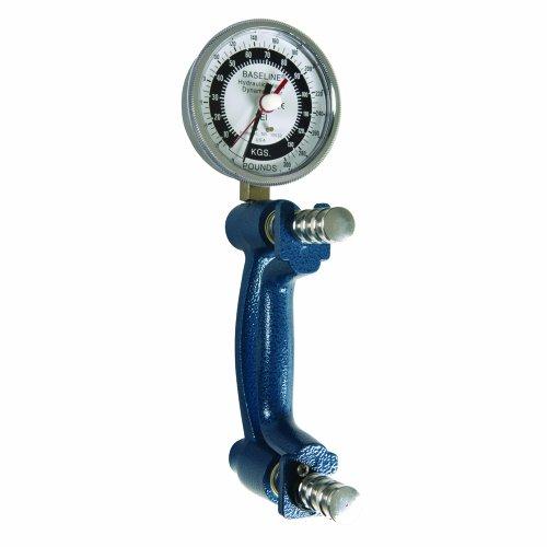 """La base de referencia er (extended-range) 300lb hidráulico de mano (puede medir la fuerza de agarre de alta resolución hasta 136/135kg también viene con un cabezal de 3-1/2""""de diámetro de alta resolución el dial gradaciones de contiene 5libras/2..."""