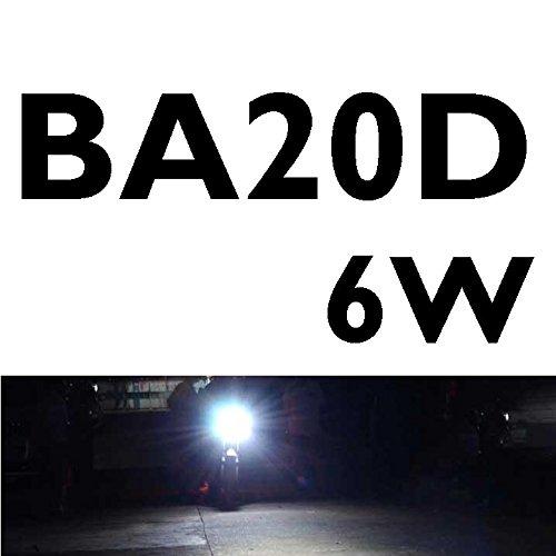 CICMOD Motocicletta BA20D H4 6W 6500K LED Faro a LED Fanale Anteriore H/L Fascio 800LM Scooter LED Lampada con Ventola Raffreddamento