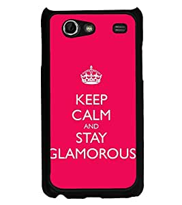 Fuson Designer Back Case Cover for Samsung Galaxy S Advance i9070 (Keep CAlm Be Quiet Be Cool Glamorous Queen Crown)