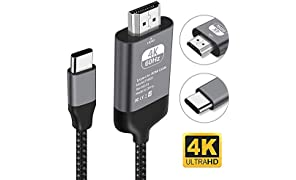 Kdely Cable USB C vers HDMI, Compatible avec pour MacBook Pro 2017/2018, Dell XPS 15/13, Galaxy S10/S9/S8,Note10/10+/9/8, Huawei P30/30 Pro,P20,Mate 30,30 Pro,20,10, MateBook X Pro etc. 2m/Noir