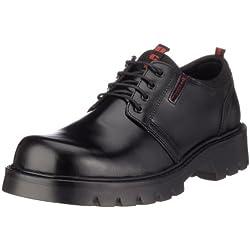 Dockers 115701-005001, Zapatos de Cordones Derby para Hombre, Negro, 43 EU