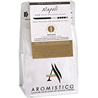 AROMISTICO | Rich Strong Gourmet Dark Roast | Premium Italian GROUND COFFEE | NAPOLI BLEND | For Cafetiere / French Press, Filter, Pour Over, Drip, Moka Pot or Aeropress | SMOKY, MALTY and DARK CHOCOLATE-Like