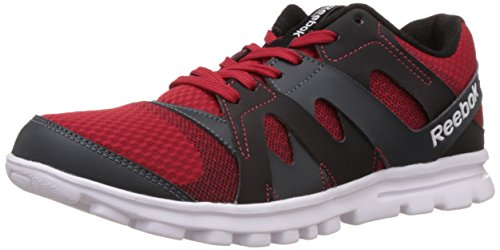 Reebok Men's ELECTRO RUN Red,Black,Grey and White Running Shoes - 9 UK/India...