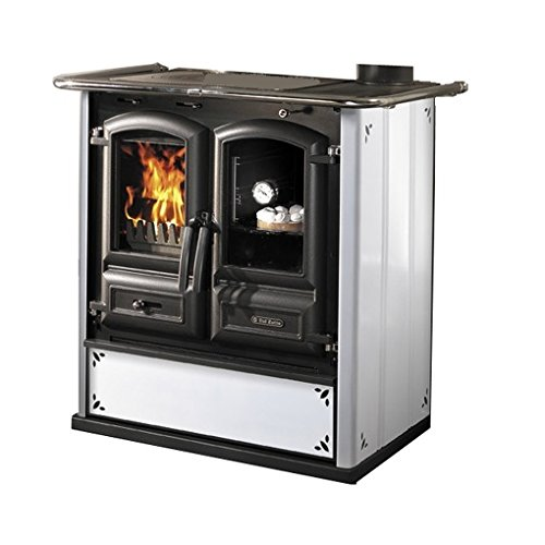 cucine a legna 'regina 350 steel' bianco puntinato