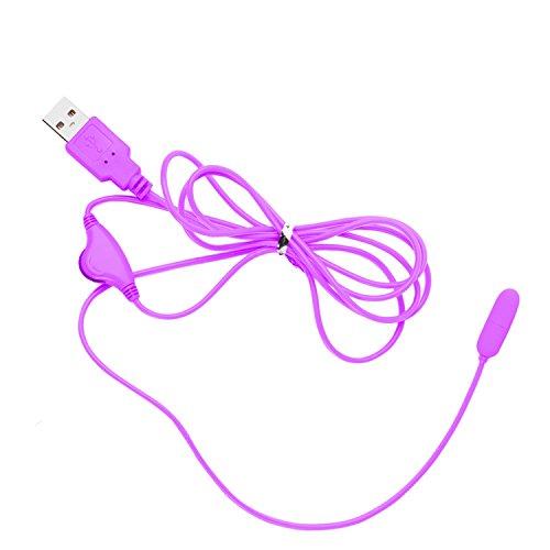 Vibrierendes Ei, Harnröhrenform, stimuliert den Penis-Plug, USB-Vibrator, Sex-Spielzeug für Männer und Frauen, weiblich, männlich, für Erwachsene violett - Männer Ei Sex