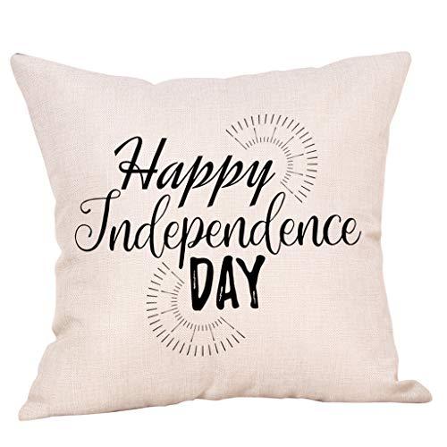 Junjie Happy Independence Day Kissenbezüge Sofa Kissenbezug Home Decor Kissenbezug Reisekissen Küche Haushalt Wohnen Heimtextilien Bad Bettwaren Bettwaren