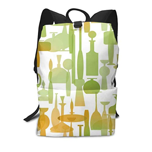 Read Online Pink Stripes Pattern Laptop Backpack Student School Bookbag Casual Durable Rucksack Travel Daypack