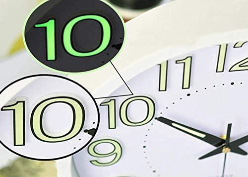 DollylaStore Horloge Murale Salon Mute Luminous Table à Suspendre Horloge créative Chambre à Coucher Quartz Moderne, Noir-Petit12.0 * 12.0in ( Color : Silver , Size : Small12.0*12.0in ) | Vendant Bien Partout Dans Le Monde
