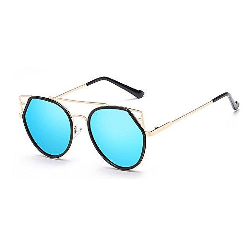 Wxx000 Aviator Polarized Sonnenbrillen UV400, voll verspiegelte Federscharniere Sonnenbrillen für Männer, Frauen (Color : Black)