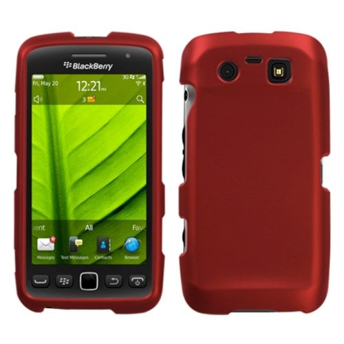 Asmyna BB9850HPCSO202NP Titanium Premium Durable Rubberized Protective Case for BlackBerry Torch 9850-1 Pack - Retail Packaging - Red Red Blackberry Faceplates