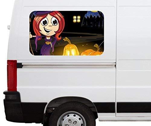 ustig Kinderzimmer Kürbis Halloween Car Wohnmobil Auto tuning Digital Druck Fenster Sticker LKW Bild Aufkleber 21B326, Größe 3D sticker:ca. 45cmx27cm ()
