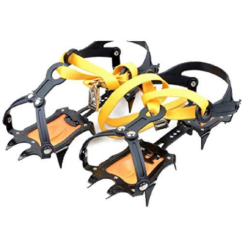 HEYANHYAN Bergsteigen 10 Zähne Steigeisengurtart Anti-Rutsch-Klaue Anti-Rutsch-Schuhabdeckung Großer Zahn Aus Manganstahl Mit Snowboard-Schlüssel Und Anti-Rutsch-Hülse