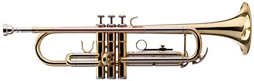 Classic Cantabile TR-39 Bb-Trompete (Schallbecher Messing 125 mm, Mundrohr Goldmessing, Stimmzug Neusilber)