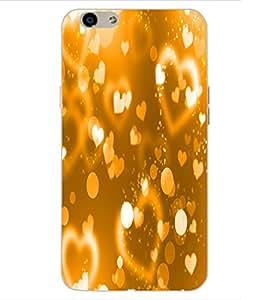 ColourCraft Love Hearts Design Back Case Cover for OPPO F1s