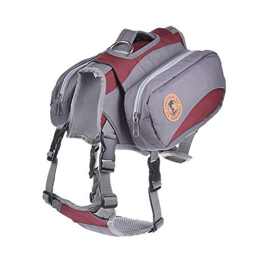 Ljourney Haustier Hunderucksack Wasserdicht Selbst Rucksäcke Verstellbar Satteltasche Für Mittlerer Und Großer,Hund Geschirr Tasche Satteltasche