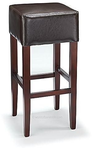 Oscar Brown Bonded Leather & Walnut Bar
