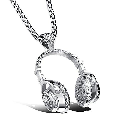 hombre-novedad-generoso-acero-inoxidable-auriculares-de-msica-colgante-belcher-cadena-collar-plata