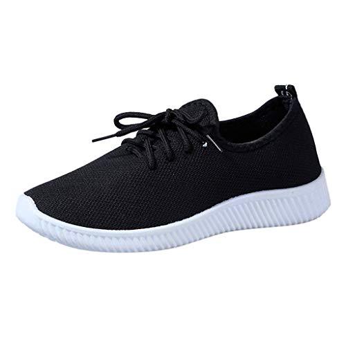 Scarpe Sneakers Scarpe Sportive Donna Tinta Unita Traspiranti Antiscivolo con Fondo Morbido Scarpe da Ginnastica Sneakers Running Donna Scarpe da Corsa Scarpe Donna Sportive