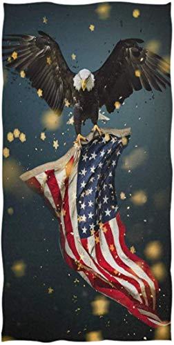 Animale Aquila calva Bandiera americana Asciugamano Salvietta Bambino Bambino Bambini Ragazzi Ragazze Donna Uomo