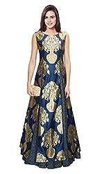 Lahenga Choli Designed By FABKAZ_(Navy Blue and Golden)