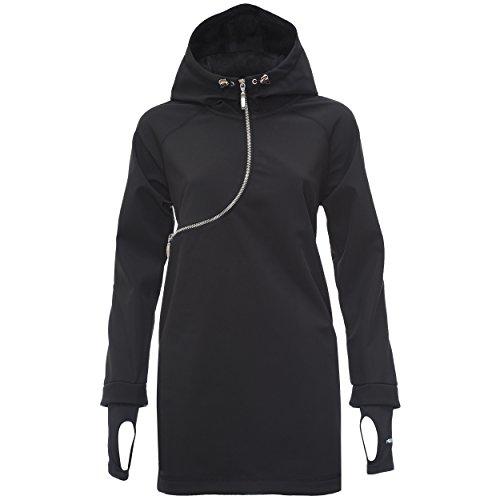 Fred Perry Felpa Zip Curva - sweatshirt à capuche - Femme Noir