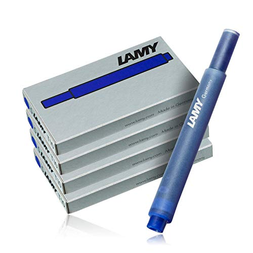 Lamy Azul T10 Cartuchos de tinta para Pluma - 4 PACKS (20 Cartuchos) - Entrar En Su Modelo Número Hacer Seguro ESTE PARA - Cuatro cajas de 5 Lamy T10 Cartuchos de tinta - compatible con con la mayoría de Lamy Estilográfica - color: Azul