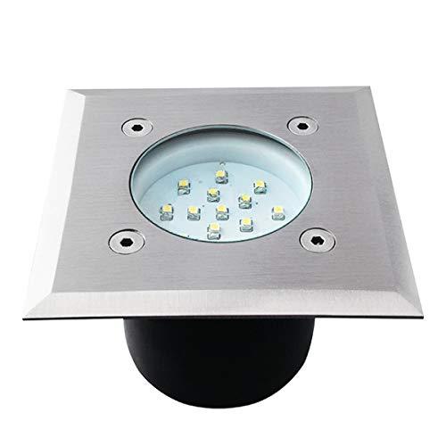 Spot led encastrable sol carré 0.7 watt etanche - Couleur eclairage - Blanc froid