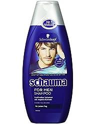 Schwarzkopf Schauma for Men Shampoo, 4er Pack (4 x 400 ml)
