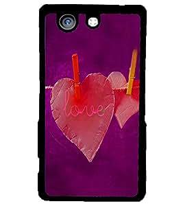 PRINTSWAG LOVE HEARTS Designer Back Cover Case for SONY XPERIA Z4 MINI