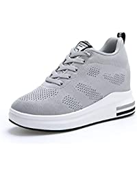AONEGOLD® Scarpe con Zeppa Interna Donna Scarpe da Ginnastica Basse  Sportive Fitness Sneakers Zeppa… 6be9dbb68b7