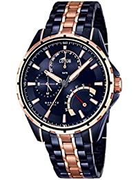 Lotus 18205/1 - Reloj de pulsera hombre, Acero inoxidable, color Bicolor