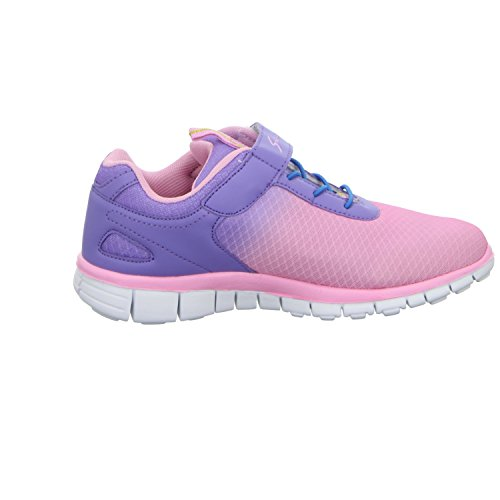 Sneakers HF-20150353 Mädchen Klettverschluss/Slipper Halbschuh sportlicher Boden Rot (Pink)