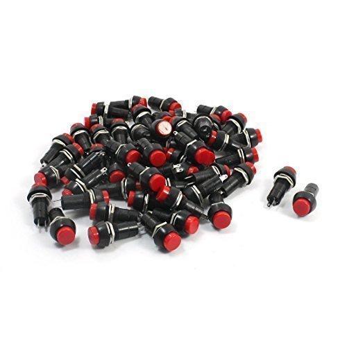 ca-250-v-3-a-2-pin-radio-shack-spst-interruttore-momentaneo-pulsante-colore-rosso-confezione-da-50-p