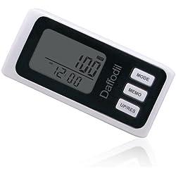 Daffodil HPC650W - Podómetro Portátil Multifunción - Memoria de hasta 7 días / Contador de calorías y monitor de progreso diario [Color blanco]