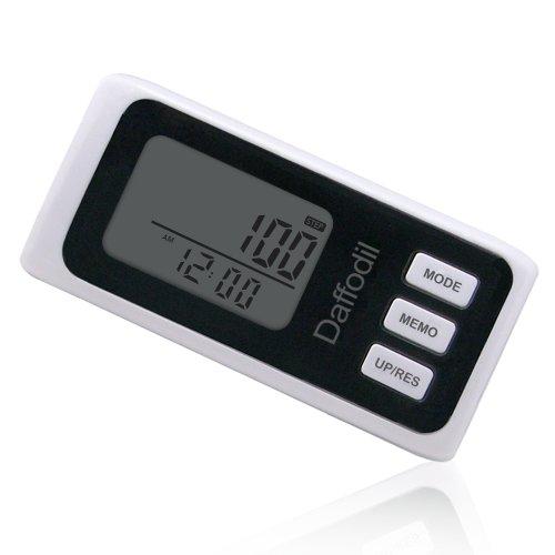Daffodil HPC650W – Podómetro Multifunció – Memoria de hasta 7 días / Contador de calorías y monitor de progreso diario [Color blanco]