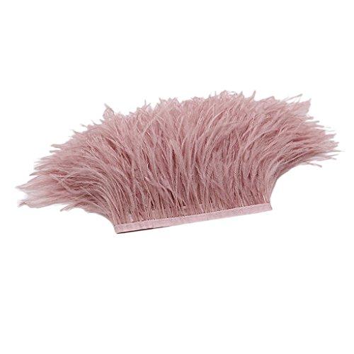 edern Feder Stoffstreifen 1 Yard - Ideen für die Bekleidung, Kostüme, Hüte - Nude Pink ()