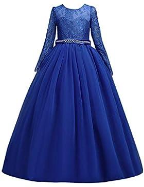 Riou Weihnachtskleid Mädchen Prinzessin Spitzenkleid Lang Weihnachten Kinder Baby Tutu Mini Ballkleider Abendkleid...