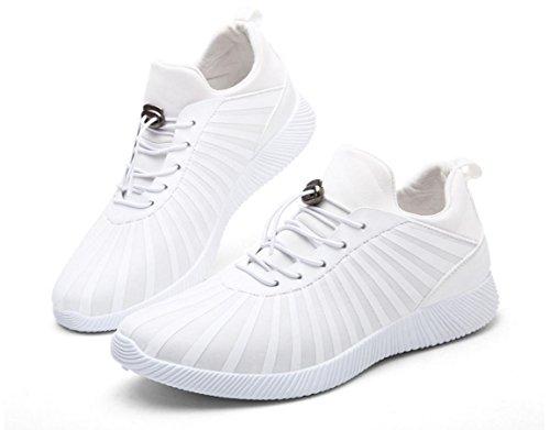 Scarpe sportive traspiranti UOMO di HYLM Scarpe da ginnastica nere di modo del guerriero nero Pattini correnti casuali White