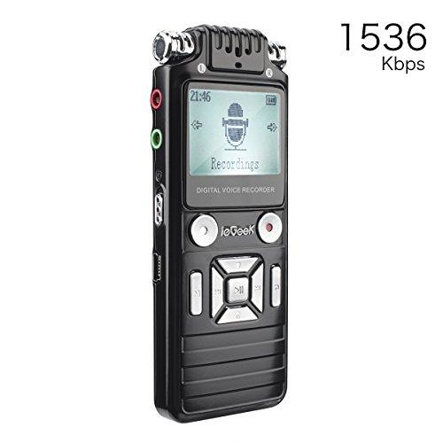 ieGeek Registratore vocale digitale portatile HD, 8 GB...