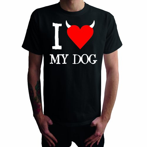 I don't love My Dog Herren T-Shirt Schwarz