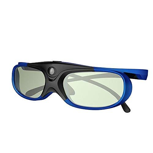 ELEPHAS DLP Link 3D-Brille Wiederaufladbare für DLP-Projektoren Optoma, BenQ, Acer, Viewsonic, Dell, Schwarz/Blau (2018 Comfortable Version). MEHRWEG (3d-dlp-projektor)