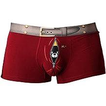Vividda Ropa interior para hombre bajo la cintura Calzoncillos cortos Con patrón divertido