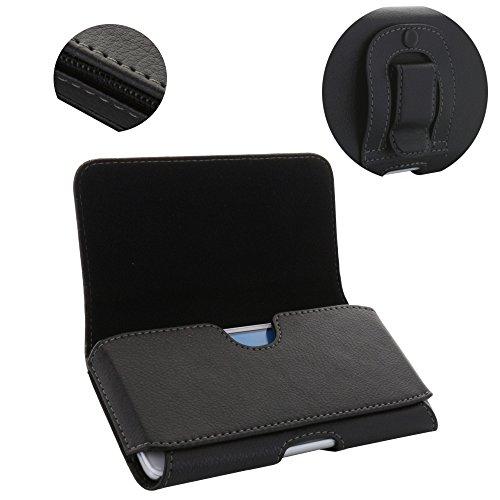 Handy Gürteltasche 1.4 Tasche mit Stahlclip für Samsung Galaxy A3 2017 S4 / Nokia 1 / Sony Xperia XZ1 Compact/Handytasche schwarz
