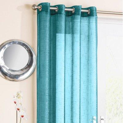 Ideal Textiles-Tenda a pannello in voile, effetto lino pizzo tende
