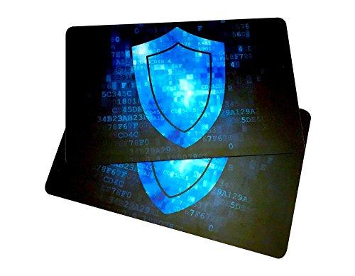 2RFID-blockierender Karten von RMS Unlimited Waren-Die Original Sicherheit. Schützt Brieftasche, während Sie Reisen. KOSTENLOSE E-Bücher auf ID Diebstahl und Reparatur