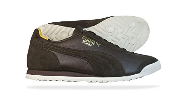 Puma Roma Slim Leather Mens Trainers   Shoes - Brown - SIZE UK 11   Amazon.co.uk  Shoes   Bags b72426ecf