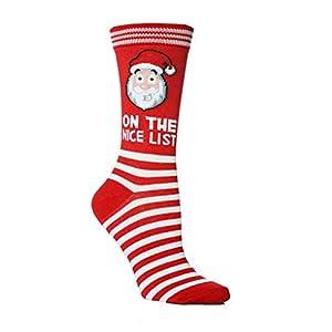 Wanghuaner Crew Socken Cartoon Weihnachtsmann Rentier Jacquard Bunte Baumwolle Strumpfwaren Neuheit Geschenk Für Frauen Männer Weihnachten Urlaub Lässig