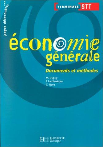 Economie générale, Terminale STT