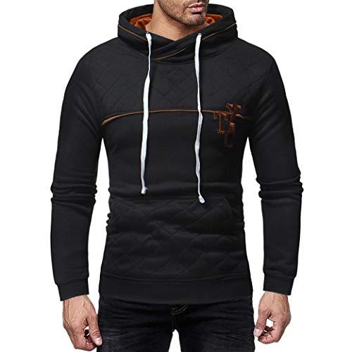 Herren Kapuzenpullover,TWBB Brief Printing Pullover Mit Tasche Herbst Winter Lange Ärmel Mantel Outwear Sweatjacke Jacke Hemd