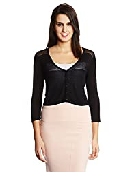 VERO MODA Womens Cardigan (10112873_ Black_ L)